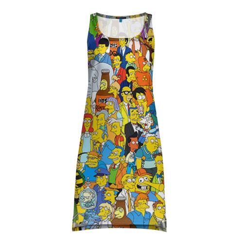 Платье-майка 3D Симпсоны