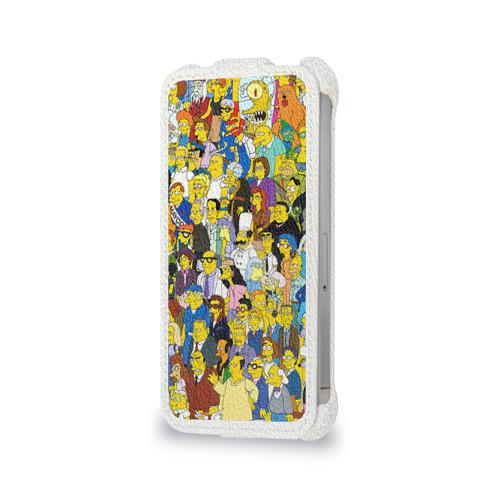 Чехол для Apple iPhone 4/4S flip  Фото 06, Симпсоны