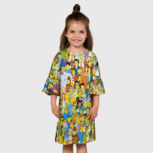 Детское платье 3D  Фото 01, Симпсоны
