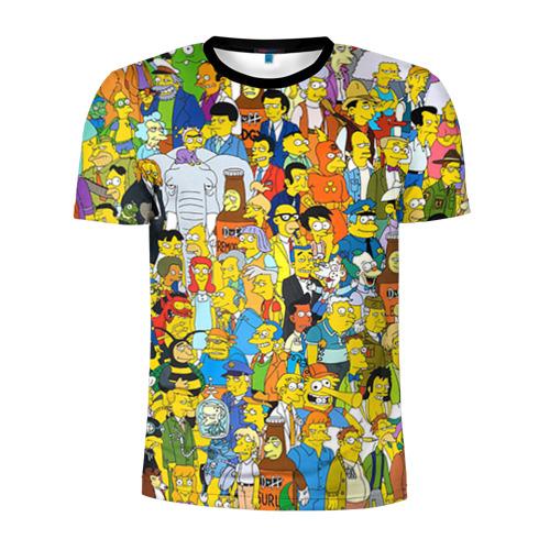 Мужская футболка 3D спортивная Симпсоны