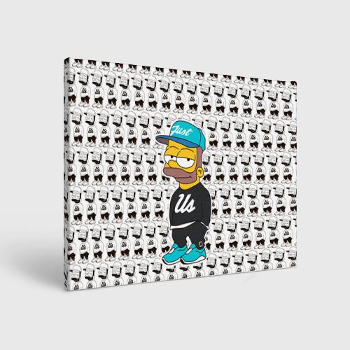 Холст прямоугольный Барт Симпсон