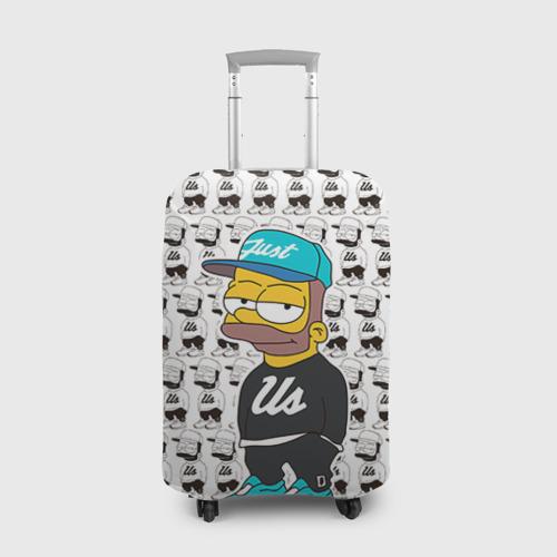 Чехол для чемодана 3D Барт Симпсон