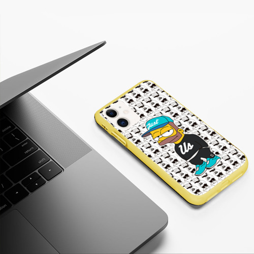 Чехол для iPhone 11 матовый Барт Симпсон Фото 01