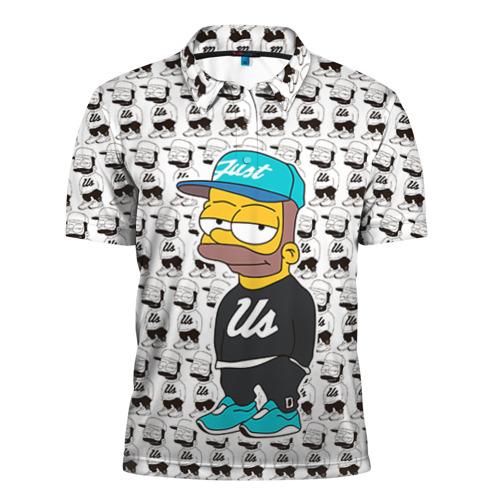 Мужская рубашка поло 3D Барт Симпсон