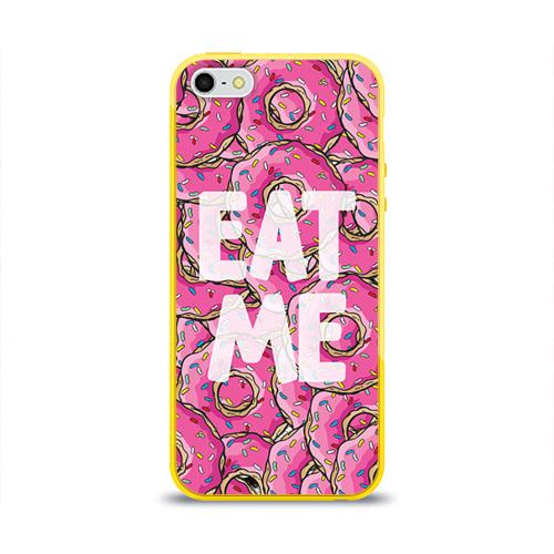 Чехол для Apple iPhone 5/5S силиконовый глянцевый Eat me