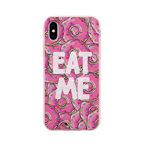 Чехол для iPhone X матовый Eat me Фото 01