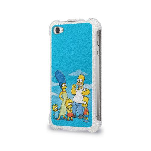 Чехол для Apple iPhone 4/4S flip  Фото 03, Симпсоны