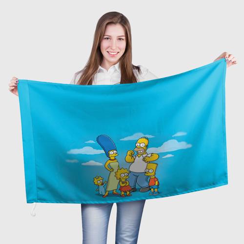 Флаг 3D Симпсоны