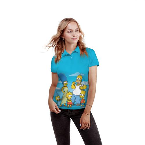 Женская рубашка поло 3D  Фото 03, Симпсоны