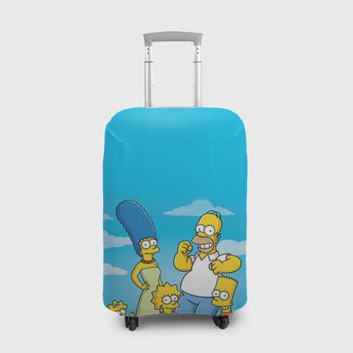 Чехол для чемодана 3D Симпсоны