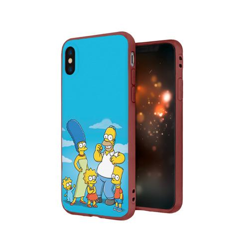 Чехол для iPhone X матовый Симпсоны Фото 01