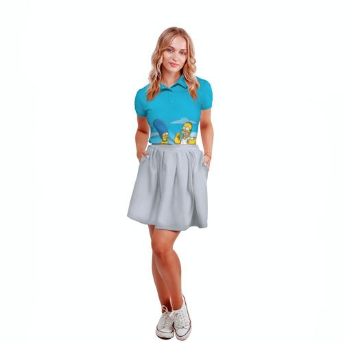 Женская рубашка поло 3D  Фото 04, Симпсоны