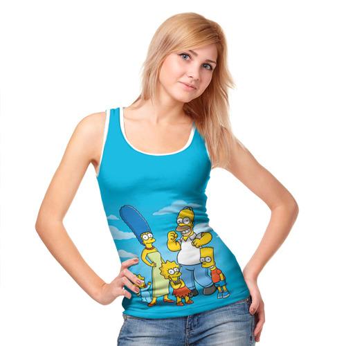 Женская майка 3D  Фото 05, Симпсоны