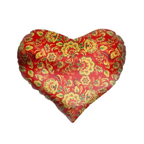 Подушка 3D сердце Хохлома