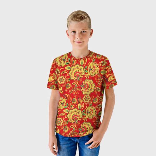 Детская футболка 3D Хохлома
