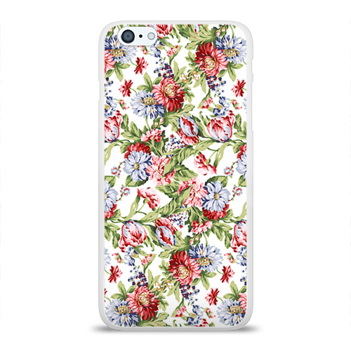 Чехол для Apple iPhone 6Plus/6SPlus силиконовый глянцевый Цветы