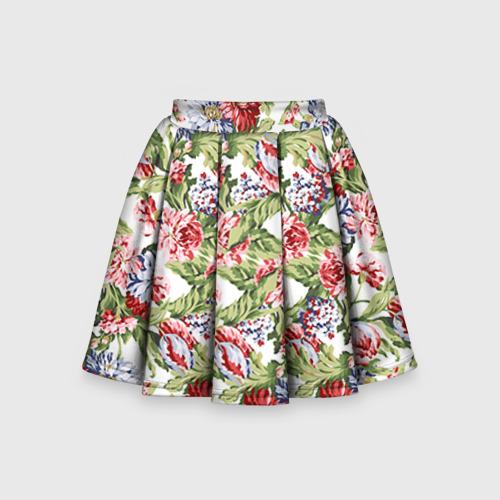 Детская юбка-солнце 3D Цветы