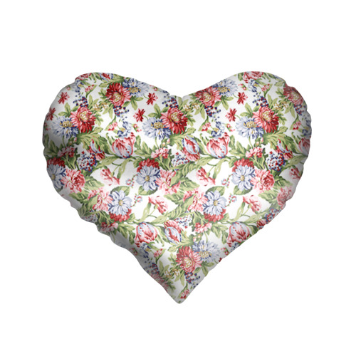 Подушка 3D сердце Цветы