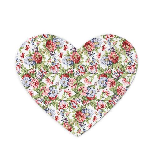 Коврик для мыши сердце Цветы