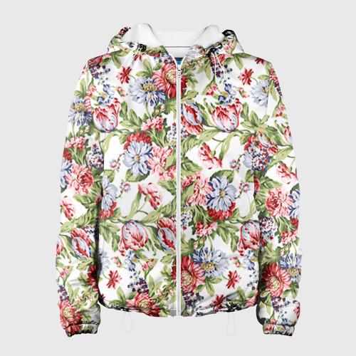 Женская куртка 3D Цветы