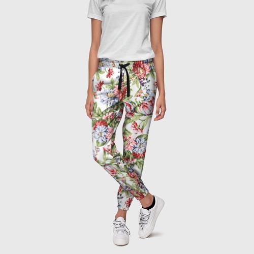 Женские брюки 3D Цветы
