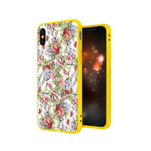 Чехол для iPhone X матовый Цветы Фото 01