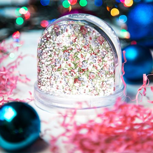 Водяной шар со снегом  Фото 04, Цветы