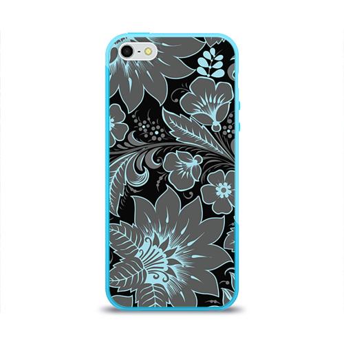 Чехол для Apple iPhone 5/5S силиконовый глянцевый Узор