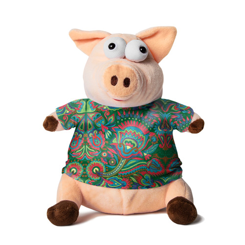 Свинка в футболке 3D Узор