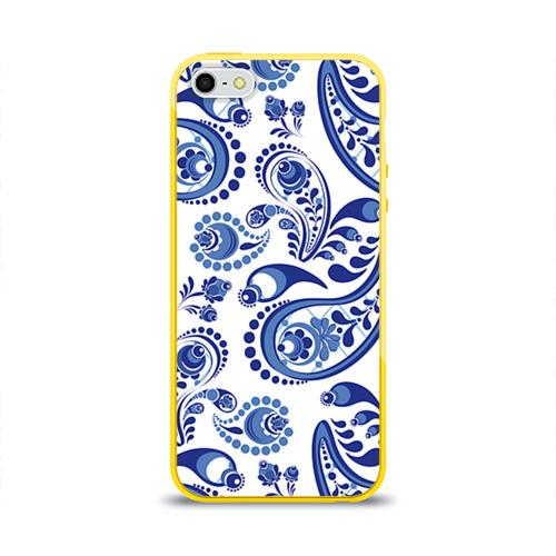 Чехол для Apple iPhone 5/5S силиконовый глянцевый Восточные огурцы
