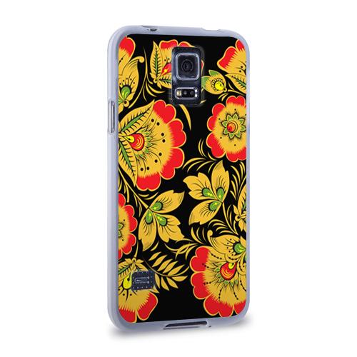 Чехол для Samsung Galaxy S5 силиконовый  Фото 02, Хохлома