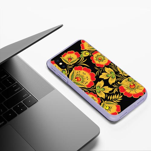Чехол для iPhone XS Max матовый Хохлома Фото 01