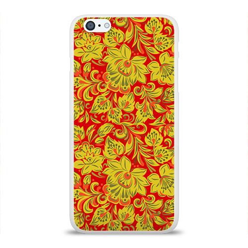 Чехол для Apple iPhone 6Plus/6SPlus силиконовый глянцевый Хохлома