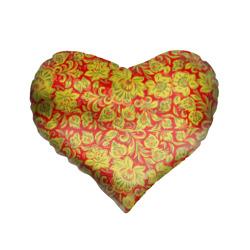 Подушка 3D сердцеХохлома