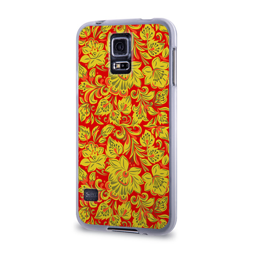 Чехол для Samsung Galaxy S5 силиконовый  Фото 03, Хохлома