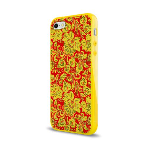 Чехол для Apple iPhone 5/5S силиконовый глянцевый Хохлома Фото 01