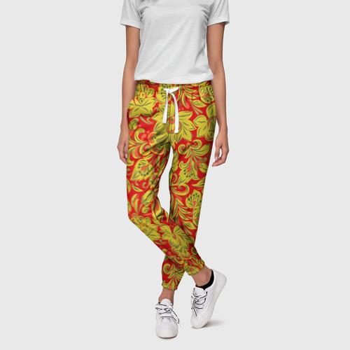 Женские брюки 3D Хохлома Фото 01