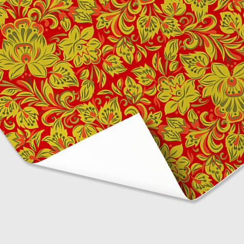 Бумага для упаковки 3D Хохлома Фото 01