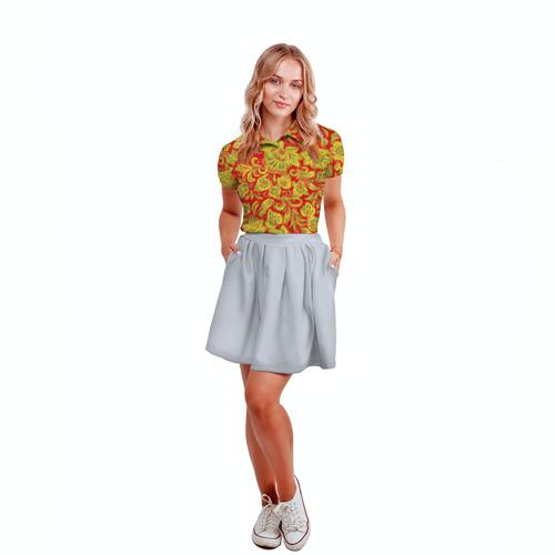Женская рубашка поло 3D Хохлома Фото 01