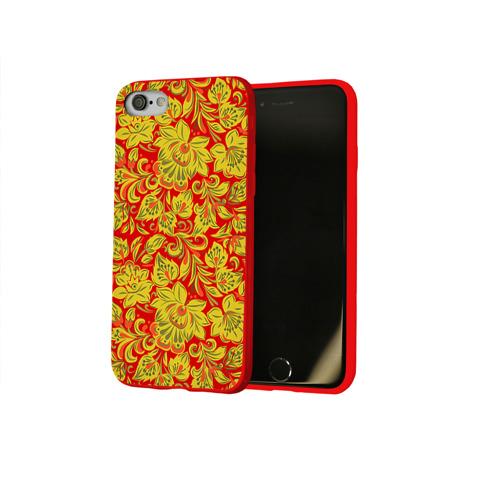 Чехол для Apple iPhone 8 силиконовый глянцевый  Фото 02, Хохлома