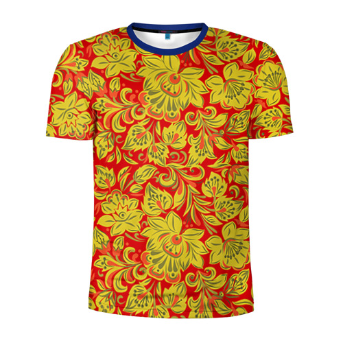 Мужская футболка 3D спортивная Хохлома