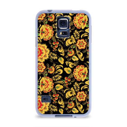 Чехол для Samsung Galaxy S5 силиконовый  Фото 01, Хохлома