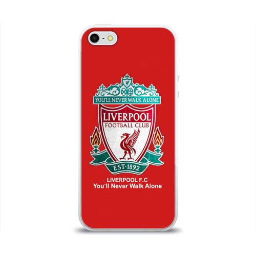 Чехол для Apple iPhone 5/5S силиконовый глянцевый Liverpool