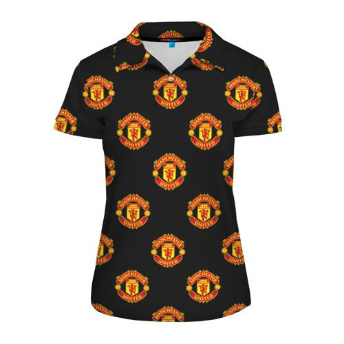 Женская рубашка поло 3D Manchester United