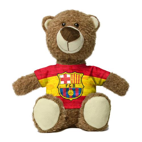 Миша в футболке 3D Barcelona
