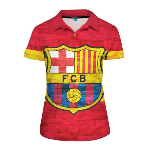 Женская рубашка поло 3D Barcelona