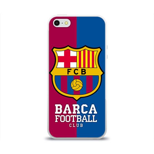 Чехол для Apple iPhone 5/5S силиконовый глянцевый Barca