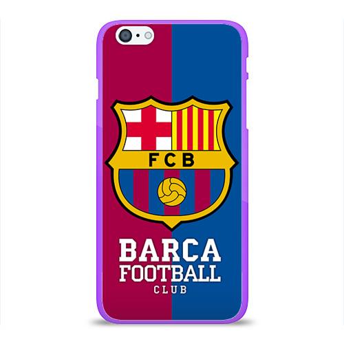 """Чехол силиконовый глянцевый для Apple iPhone 6 Plus """"Barca"""" - 1"""