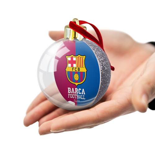 Ёлочный шар с блестками  Фото 03, Barca
