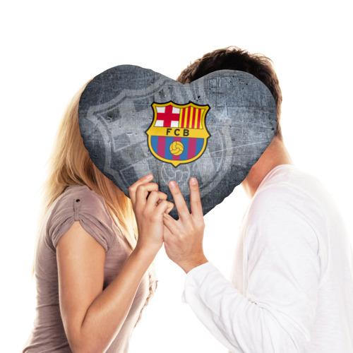 Подушка 3D сердце  Фото 03, Barcelona